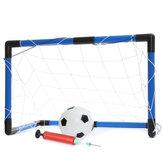 59x27x39cm Futbol Kale Ağı Seti Youth Çocuk Futbolu Net Futbol Sporları Pompa Outdoor Kapalı Antrenman