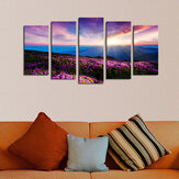 5Pcs Canvas Print Paintings Scenery Oil Painting Wall Decorative Printing Art Picture Frameless Home Office Decoration