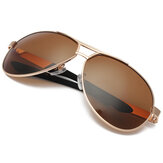 Мужские золотые поляризованные очки