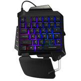 G92 Одноручный RGB LED Игровая подсветка Клавиатура Клавиатура 35 клавиш Мышь для PUBG LOL Dota Games
