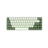124 Keys Matcha Keycap Set XDA Profile PBT Sublimation Japanese/Korean/Russian Keycaps for Mechanical Keyboard