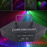 LED RGB Zes-eye Scanning Laser Beam Podium Licht Verlichting Laser Strobe Beam Disco Party KTV Projector Lamp