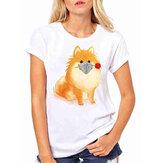 T-shirts décontractés basiques blancs à manches courtes pour chien
