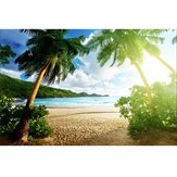 7x5ft Seaside Beach Summer Theme Photography Vinyl Achtergrond Studio Achtergrond 2.1mx 1.5m