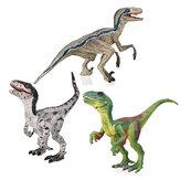 Velociraptor Dinosaur Leksaker Pedagogisk Modell Figur 133 Grå Grön För Barn