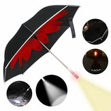 KCASA UB-3 Double Layer Reverse Umbrella Reflektierende SOS LED Winddichte Auto Open UV Schutz Regenschirme