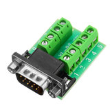 Male Head RS232 Turn Terminal Serial Port Adapter DB9 Terminal Connector
