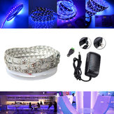 5M UV SMD2835 395-405NM Purple 300 LED Non-Waterproof Strip Light Kit + Connector + Power Supply 12V