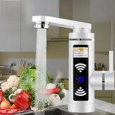 3000W Elektrische Kraan Kachel Water Instant Verwarming Thuis Badkamer Keuken Warm & Koud Mengkraan LED Display EU Plug