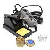 YIHUA 908+ 220V 60W elektrisch ijzeren soldeerstation laswerkzaamheden met soldeerstand + reinigingsbal + 5 tips