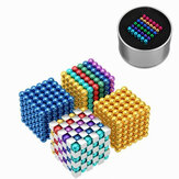216PCS 5mm Cube Buck Ball Mixcolour Magnetic Toys Neodymium N35 Magnet