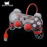 DATA FROG USB filaire Dual-vibration Feedback Gamepad Game Controller pour PC Games Compatible avec Win7 Win8 Win10
