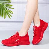 Chaussures de sport décontractées légères respirantes à lacets pour femmes