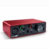 Placa de som Focusrite Scarlett Solo (3ª geração) Interface de áudio USB 24 bits / 192KHZ Placa de som Ad-Converter para gravação de microfone