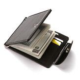 メンズフェイクレザークリエイティブマネークリップ財布
