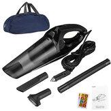 Aspirador de pó para carro com fio 56W Espanador portátil de sujeira Sucção Wet & Dry Black