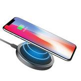 ROCK W4 2A Qi Carregador de disco de carregamento rápido sem fio para iphone X 8 / 8Plus Samsung S8 S7 iWatch 3