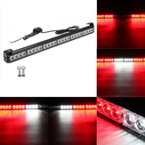 27inch 24 LED White Red Emergency Warning Light Bar Traffic Strobe Flashing Light