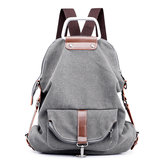 Women Multi-functional Casual Messenger Bag Canvas Backpack