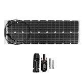 Electricidad doméstica semiflexible de silicio monocristalino del panel de potencia de 50W 18V Solar