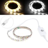 0.5M USB Powered Waterproof LED Strip Light With Touch Dimmer Switch for Outdoor Home Decor DC5V