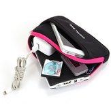 स्मार्टफोन सहायक उपकरण के लिए यूनिवर्सल जिपर डिजिटल डस्टप्रूफ कैरीइंग बैग स्टोरेज बॉक्स