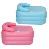 Lixing PD0233S Inflatable Baby Bathtub Thicken Insulation with PVC Material for Kids-Blue/ Pink