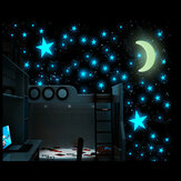 100 stk Glow In The Dark Stars Klistremerke Vakre 3D DIY Hjem Dekal Art Luminous Wall Stickers