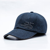 Mens Middle-aged Cotton Letter Embroidered Baseball Cap
