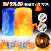 4 Modları Yerçekimi Sensör B22 E27 Alev Etkisi Yangın Ampul Süper Parlak 96 LEDs Dekoratif Atmosfer Işık Noel Dekor Lamba