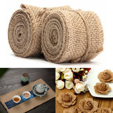 2M Vintage Jute Hessian Burlap Ribbon Wedding Party Cadeau Decoratie 40 60mm