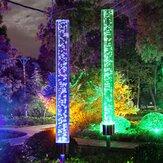 2PCS Zonne-energie Acryl Bubble Light LED RGB Lawn Garden Landscape Lamp Decor