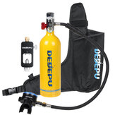 DEDEPU S5000 + Mini Scuba Diving Tank Set 1L Diving Tank with Scuba Converter Underwater Sport Mini Acessórios para tanque de mergulho