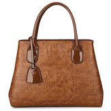 Women Crocodile High-End Vintage PU Leather Handbag Shoulder Bag
