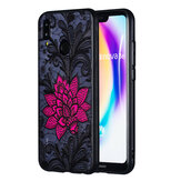 Enkay Emboss Lace Flower Shockproof PC TPU Back Cover Protective Case for Huawei P20 Lite Nova 3E