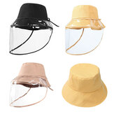 ZANLURE Detachable Fisherman Bucket Hat Transparent Protective Mask Hat Anti-Fog Saliva Fishing Hiking