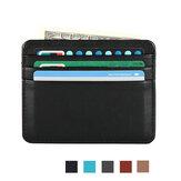 Honana HN-PB4 Couro Slim titular do cartão de crédito Titular Money Clip Organizer Cartões
