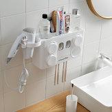 Auto montagem da parede do suporte de copo da escova de dentes do distribuidor do dentífrico