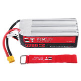 BT BEAT 22.2V 5200mAh 35C 6S Lipo Battery XT60 Plug With Battery Strap for RC Racing Drone