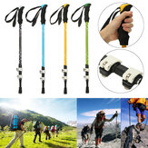 Adjustable 3-Section Hiking Walking Stick Trekking Pole Aluminum Alloy Alpenstock