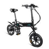 [EU Direct] FIIDO D1 10.4Ah 36V 250W 14 inch Opvouwbare bromfiets 25km / h Max 60 KM Kilometerstand Elektrische fiets
