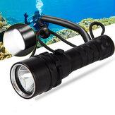 XANES® XML L2 1000LM Подводный фонарь для дайвинга, 50 м, с плавной регулировкой яркости, рабочий Лампа с ручным ремешком