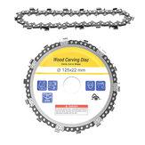 Drillpro 5 Inch Disco de cadena de la amoladora con una cadena de repuesto de 22 mm Arbor 14 dientes talla disco de madera para 125mm amoladora angular