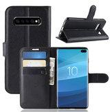 CustodiainpellePUKickstandFlip Custodia protettiva per Samsung Galaxy S10 Plus 6.4 Pollici