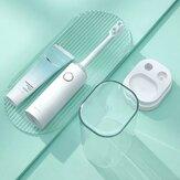 ZHIBAI TL2 فرشاة أسنان كهربائية سونيك 2 طرق IPX7 ضد للماء لاسلكية شحن منظف الأسنان بهلوان السفر دعوى من