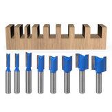 Conjunto de brocas de roteador para carpintaria reta haste de 8 mm Cortador de fresagem de carpinteiro 5/6/8/10/12/14/18 / 20mm Diâmetro de corte