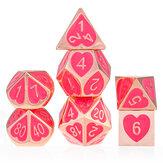 7 stks zinklegering polyedrale dobbelstenen voor RPG MTG DND kerkers draken rollenspel tafelspellen dobbelstenen