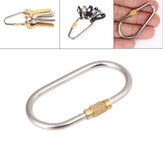 Titanium Key Chain Carabiner Screw Lock Bottle Hook Buckle Hanging Padlock Key Chain Camping Hiking