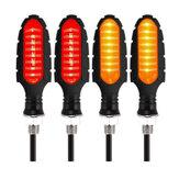 4 pièces 12 V moto fluide LED clignotants lumières clignotants étanches indicateurs feu de freinage feu arrière rouge ambre ATV universel