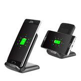 Supporto di Ricarica a 3 Bobine Caricabatterie Qi Caricatore Wireless Senza Fili di Carica Veloce per Samsung S8 Galaxy Lumia